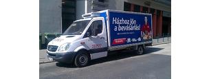 Tesco házhozszállítás Mercedes Sprinter furgonnal